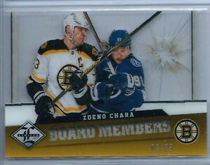 2012-13 Panini Limited Board Members Diecut Zdeno Chara 02/25 - Boston Bruins