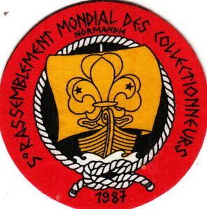 Scout/Guide Badge 5th WORLD COLLECTORS MEETING 1987 NORMANDIE
