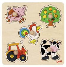 Steckpuzzle AUF DEM LAND Bauernhof Setzpuzzle Kinderpuzzle Holzpuzzle Farm NEU