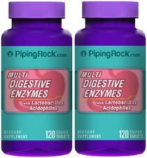 DIGESTIVE ENZYMES PANCREATIN PROTEASE AMYLASE LIPASE SUPPLEMENT 240 COATED TABS