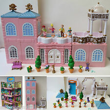 Mini Polly Pocket  100% complete Deluxe Mansion Dream Builders Stapelvilla Haus