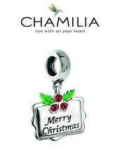Genuine chamilia 925 Silver Swarovski Navidad Feliz Navidad 2016 encanto grano