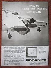 5/1983 PUB DORNIER 228-100 TURBOLINER AIRCRAFT AVION FLUGZEUG FRENCH AD