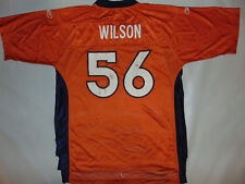 Denver Broncos  56 Al Wilson Reebok Jersey Orange Large NFL Football BLANK  FRONT 565345c89