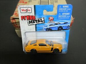 Maisto Fresh Metal Ford Mustang Boss 302 YELLOW 1:64 S Scale 3""