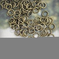 30g Antique Brass New Round Jump Rings Open/Close Jewelry Iron Findings 4mm