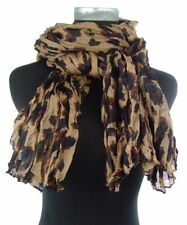 Écharpes et châles foulard marron avec des motifs Empreintes animales pour femme