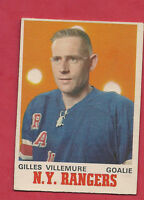 1970-71 OPC  # 183 NY RANGERS GILLES VILLEMURE GOALIE  CARD