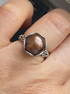925 Surati Mark Sterling Silver Solitaire Pearl Ring -Uk Size M