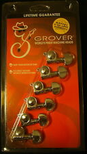 Grover 205CL6  Mini Rotomatic Tuners,  Left Hand,  6 In-Line,  Chrome Finish