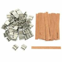50 PCS Wooden Wicks Candle DIY Core Making Tab Waxed Sustainer Supply Parffin