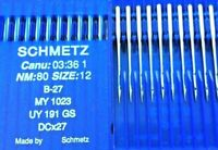 SCHMETZ DCX27B27SUK M//BALL POINT S=80//12 O//LOCK INDUSTRIAL SEWING MACHINE NEEDLE