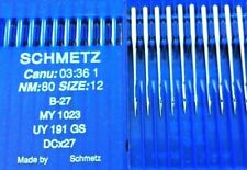 SCHMETZ DCX27 B27 SIZE NM:80/12 INDUSTRIAL OVERLOCKER SEWING MACHINE(10)NEEDLE
