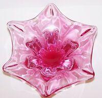 GORGEOUS VINTAGE CHRIBSKA JOSEF HOSPODKA CZECH BOHEMIAN CRANBERRY ART GLASS BOWL