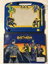 Batman Magnetic Drawing Board Kit And Educational Comic Book For Kids DC Comics