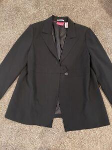 NEW liz lange maternity black blazer size 8 stretch g