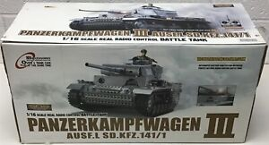 2.4Ghz 1/16 German PanzerKampfwagen III RC Battle Tank w/Smoke & Sound R/C RTR