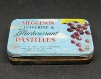 Vintage Medicine Tin: Meggeson Glycerine & Blackcurrant Pastilles