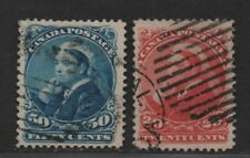 $Canada Sc#46+47 used, VF-XF, well centered stamps, fault free! Cv. $210