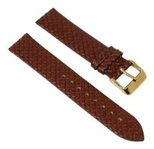 Wristwatch Strap Leather Band 18mm Braun in Weave Look Fits S.Oliver SO-2298-LQ