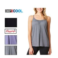 NEW! 32 Degrees Cool Ladies Camisole Cami Built in Bra VARIETY SZ/CLR - B43