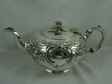 More details for stunning victorian silver tea pot, 1851, 589gm