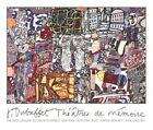 Jean DUBUFFET Theatres De Memoire 1977 Poster 30-1/4 x 36-1/2 Pace Gallery