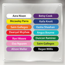 64 Personalised Stick On Waterproof Stickers for School Children Name Labels E6