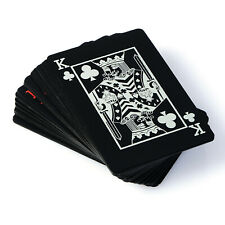 Creative Waterproof Black Plastic PVC Poker Magic Table Board Game Playing Cards