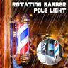 "22"" Barber Shop Pole Red White Blue Rotating Light Stripes Sign Hair Salon"