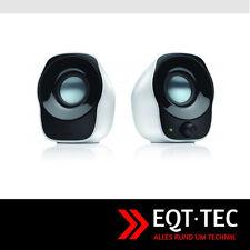 Logitech USB Kompakt Lautsprecher Box Boxen System PC / Laptop Zubehör weiß NEU