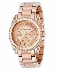New Michael Kors MK5613 Rose Gold Blair Ladies Designer Watch - UK Seller