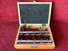 Craftsman (10) Piece Router Bit Set / Includes Original Wood Case