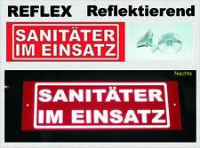 Sanitäter Im Einsatz reflektierendes Schild