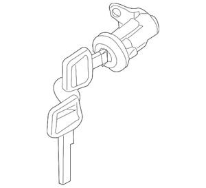 Genuine Nissan Left Front Door Lock Cylinder w/ Keys - NEW OEM