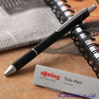 "rOtring Trio Pen"" 2 Color BP + 0.5mm Pencil Black-Body Mechanical Multi pen"