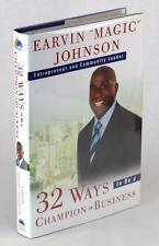Earvin Magic Johnson Signed 32 Ways To Be A Champion In Business LA Lakers Hc Dj