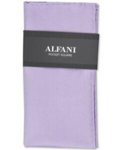 Alfani Mens One Size Solid Lavender Twill 100% Silk Formal Pocket Square $35