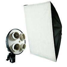 "Loadstone Studio 20"" x 28"" Light Softbox Reflector w/4 Socket Light Bulb Adapter"