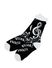 Hatley Crew Socks WOMENS Medium 9-11 TREBLE MAKER Music Clef