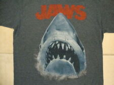 Jaws Shark Horror Movie Mouth Teeth Logo Picture Soft Dark Blue T Shirt S