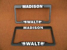 Vintage Original 1970-80's NOS Pair License Plate Frames Walt Pontiac Madison Pa