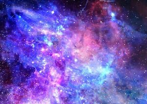 Galaxy Space Stars - Universe Nebula Wall Art Poster / Canvas Pictures