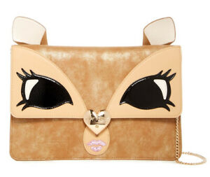 Luv Betsey Johnson Be A Deer Faux Leather Clutch Crossbody Bag | Brown | Kitsch