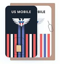 Prepaid Sim Card (Us Mobile) - Custom Plans from $4/mo. Unlimited Plans