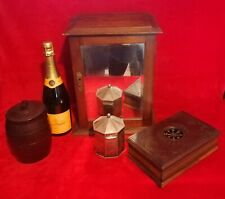 More details for antique  smokers cabinet  + humidor + tobacco barrel + tobacco tin