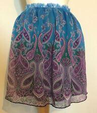 Ladies vintage inspired high waist paisley knee length boho skirt by Boohoo.10