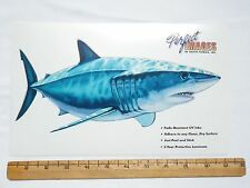 MAKO SHARK FISH DECAL STICKER DON RAY - REVERSE IMAGE ALSO AVAILABLE