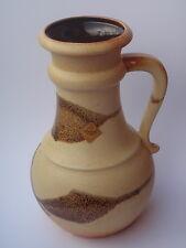 gr. Vase Krug SCHEURICH Keramik 496-28 beige braun - West German Pottery pitcher