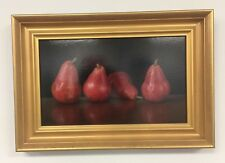 """Original Oil Painting Still Life """"Standing Pears"""" by Sally Schrohenloher11""""x18"""""""